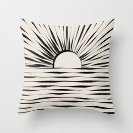 Minimal Sunrise / Sunset Throw Pillow