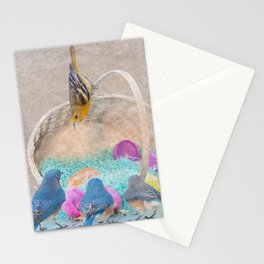 Colorful Birds & eggs Stationery Cards
