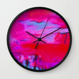 Pink Storm Wall Clock