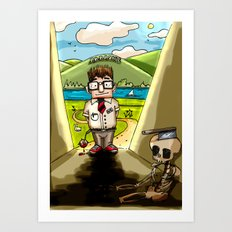 Enemy at the (Bill) Gates Art Print