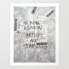 The Real Reason Art Print