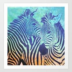 Zebras Art Print
