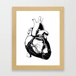 Human Heart Lub Dub Framed Art Print