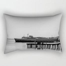 Coho at Dock Rectangular Pillow