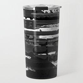 Black and White Series: Abstract Feelings Travel Mug