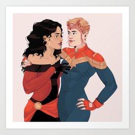 Carol and Wanda Art Print