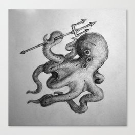 Octopus Warrior Canvas Print