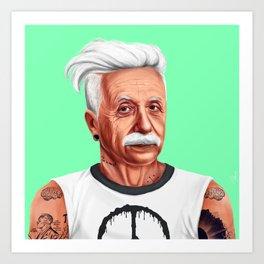 Hipstory -  Albert Einstein Art Print