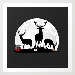 Stag Party Art Print