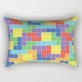 Tetris Blocks Rectangular Pillow