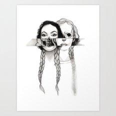 Flesh, Bone, and Braids Art Print