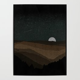 Moonrise (Sepia) Poster
