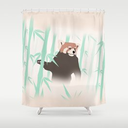 Smag the Red Panda Shower Curtain