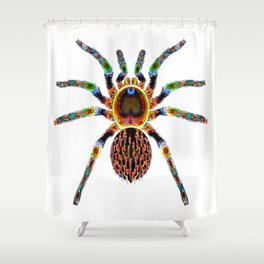 Jungle Colors Spider Shower Curtain