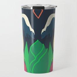 Striped Skunk + Skunk Cabbage Travel Mug