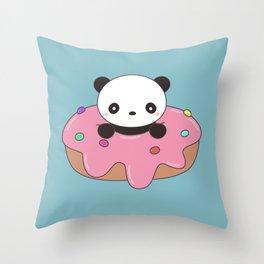 Kawaii Cute Panda Donut Throw Pillow