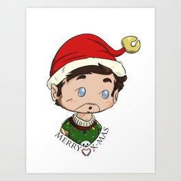 MerryXmas- Elf Rogers Art Print