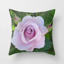 Bloom and Buds Paling to Purple Throw Pillow