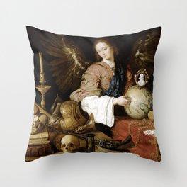 Antonio de Pereda Allegory of Vanity Throw Pillow