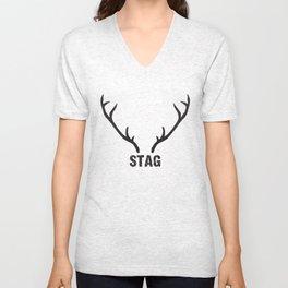 Stag Unisex V-Neck