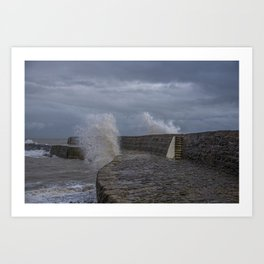 Waves over the Cobb Art Print
