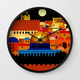 Jerusalem at night Wall Clock