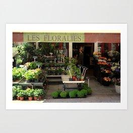 Flower Shop in France Art Print
