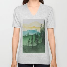 Mountains and Trees Unisex V-Neck