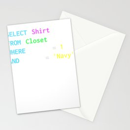 Funny SQL design for SQL programmers, DBA, and DB admins Stationery Cards