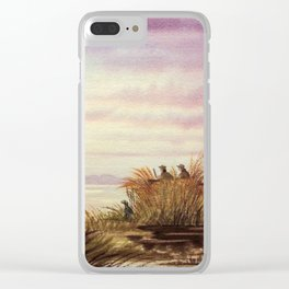 Duck Hunting Companions Clear iPhone Case