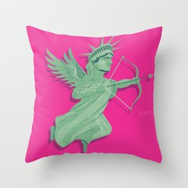 Dating in New York Throw Pillow