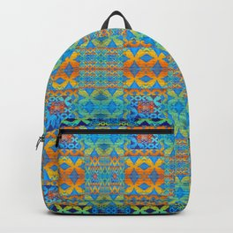 Glowing African Inspired Geometric Print Backpack