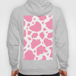 pink and white animal print cow spots Hoody