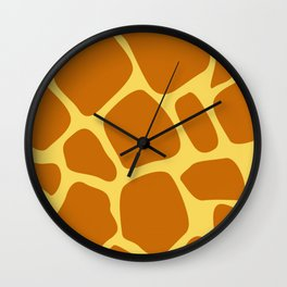 Animal Print Pattern – Giraffe 1 Wall Clock