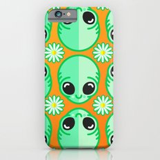 Happy Alien and Daisy Nineties Grunge Pattern iPhone 6s Slim Case