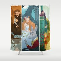 shakespeare Shower Curtains featuring Shakespeare by Supergna