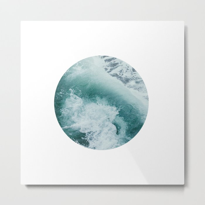 Circle Sea Metal Print