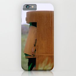 Rusted, Old Machine Part Abandoned In Field iPhone Case