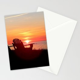 Chairs Sea and Sunset Stationery Cards