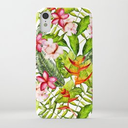 My Aloha Tropical Flower Hibiscus Garden iPhone Case