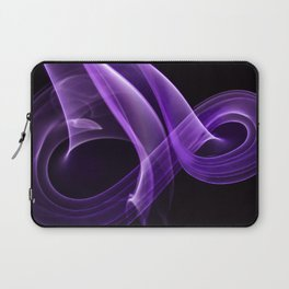 Smoke creation in cardinal purple tones Laptop Sleeve