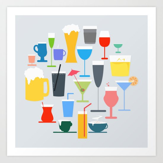 Time to Drink Art Print