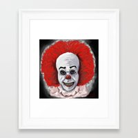 pennywise Framed Art Prints featuring Pennywise by mark lawson5
