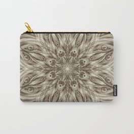 off white sepia swirl mandala Carry-All Pouch