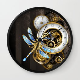Dials with Dragonfly ( Steampunk ) Wall Clock