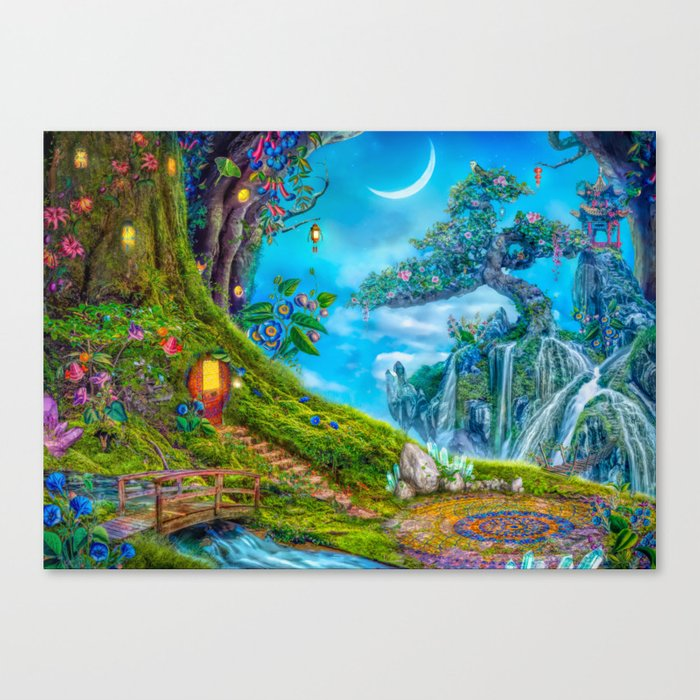 Day Moon Haven Canvas Print