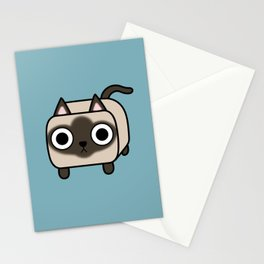 Cat Loaf - Siamese Kitty Stationery Cards