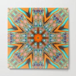 Star shape kaleidoscope with playful patterns Metal Print