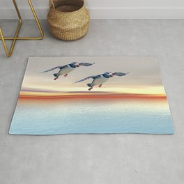 Puffins of the Atlantic Rug