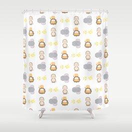 Jungle Animals - White Shower Curtain